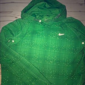 Nike Dri fit work out long sleeve with hood-XL